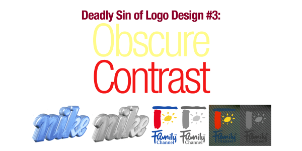 Deadly Sin of Logo Design #3: Obscure Contrast