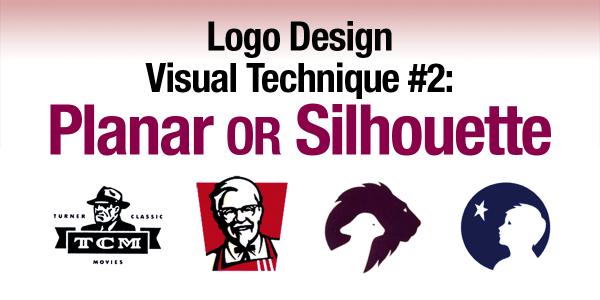 Logo Design Visual Technique #2: Planar or Silhouette