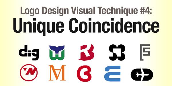 Logo Design Visual Technique #4: Unique Coincidence