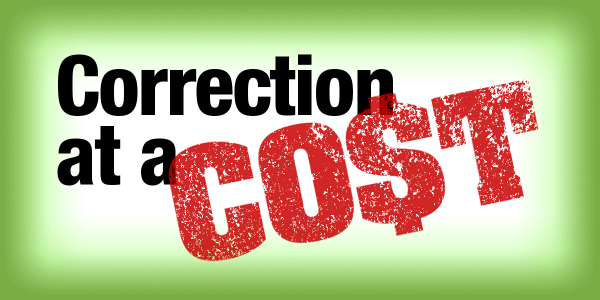 Correction at a cost